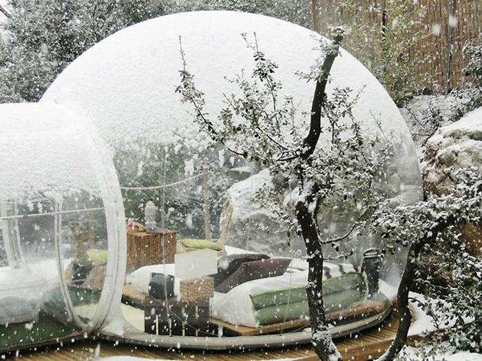 Отель Bubble во Франции
