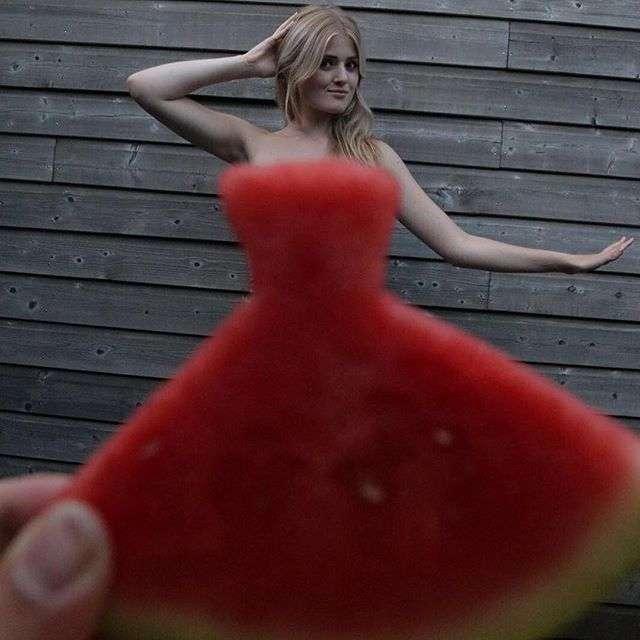Интернет захватил новый тренд - арбузные платья