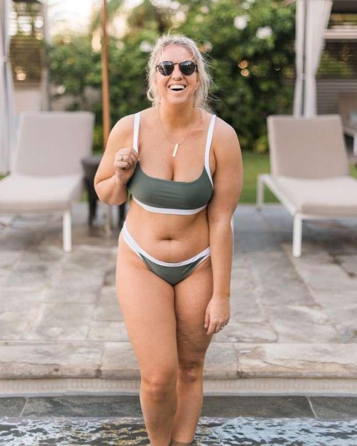 Дело не в размере: американка с пышными формами замужем за фитнес-тренером