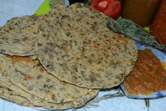 Великий пост - 2015: бесан роти - хлеб с чечевицей